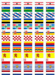 All 12 Netherlands Regions' Flag Stickers - 65 per sheet